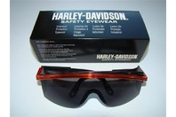 Case 10 PCS. Harley-Davidson Gray Lens Saftey Glasses HD201