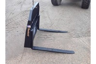 "Tomahawk Skid Steer Forks 42"" Quick Tach USA Made"