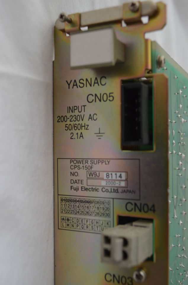 Yasnac Fuji Electric Cps 150f Power Supply Process