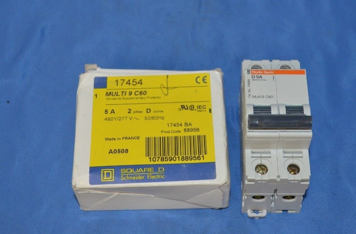 Square D Merlin Gerin 17454 5 amps Circuit Breaker new Process  #B7A414