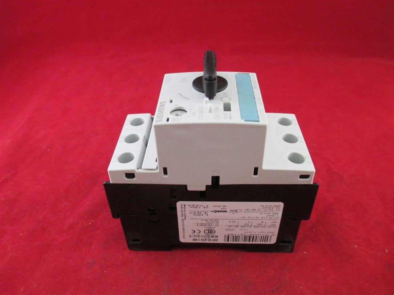 Siemens 3rv1021 1ja10 manual motor starter new process for Siemens manual motor starter