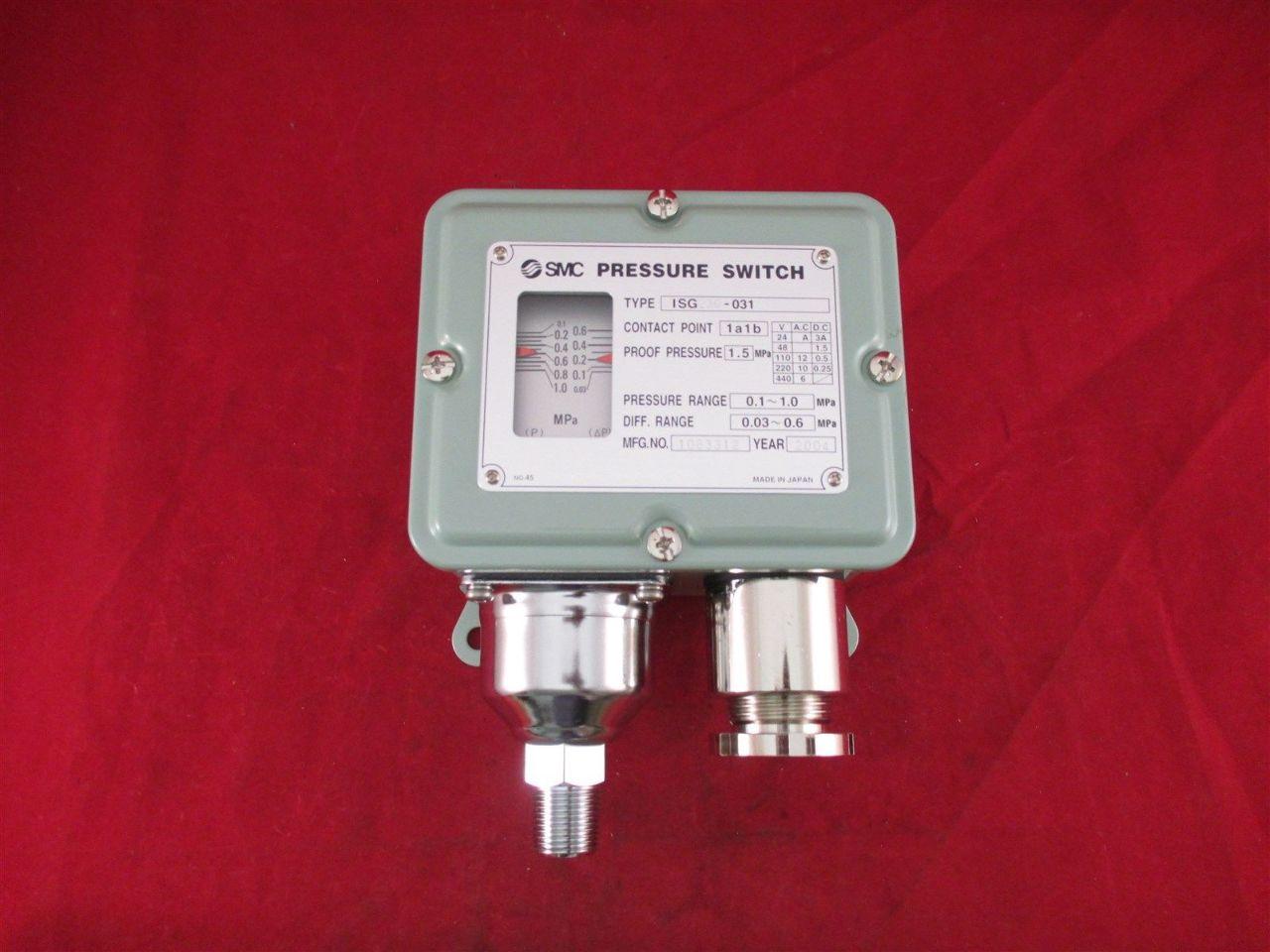 Smc Pressure Switch Isg230 031 New Process Industrial