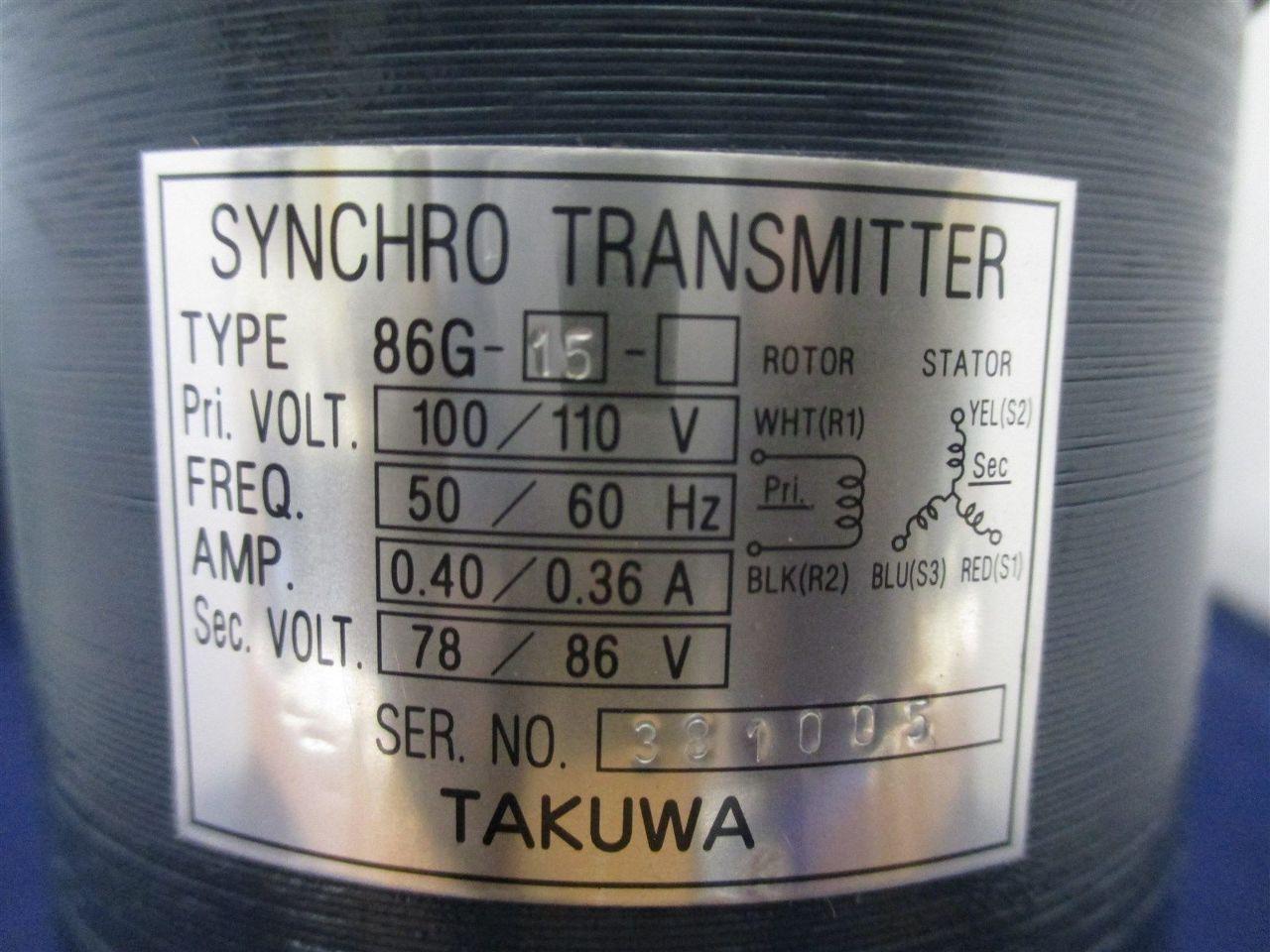 Takuwa 86g 15 Synchro Transmitter Motor Process