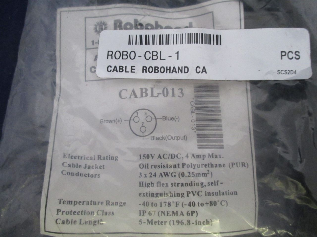 Robohand Cabl-013 Cable | Process Industrial Surplus