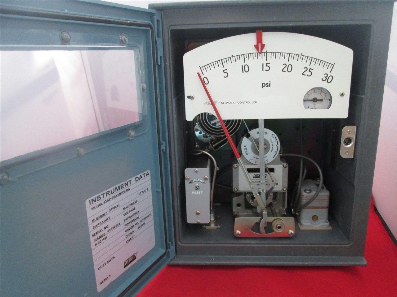 Foxboro Pneumatic Controller 43ap Pa42n Pb Ba New
