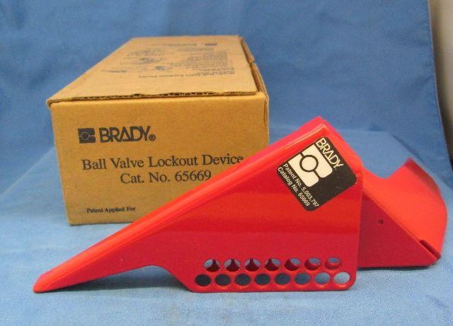 ball valve lockout. brady 65669 ball valve lockout device new