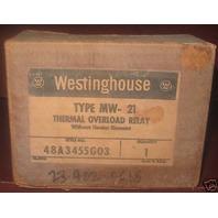 Westinghouse Thermal overload relay MW-21 MW21 NIB