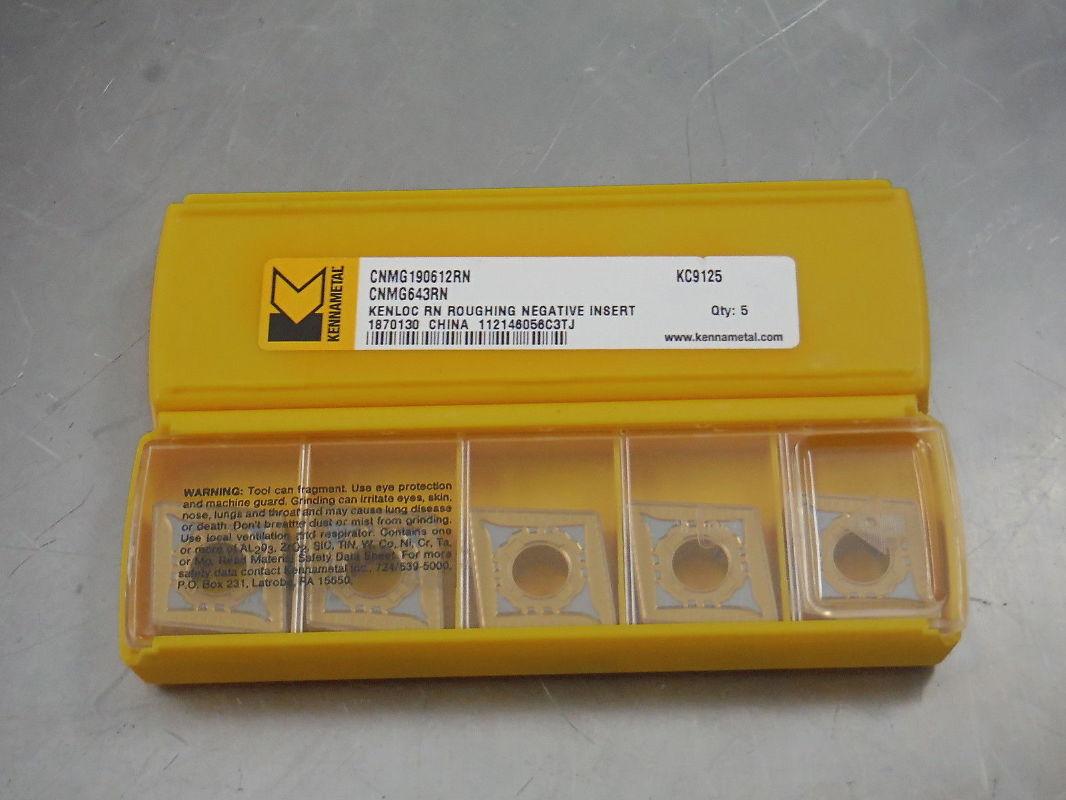 kennametal inserts. kennametal carbide inserts cnmg 643 rn kc9125 qty5 (loc1538b) kennametal inserts t