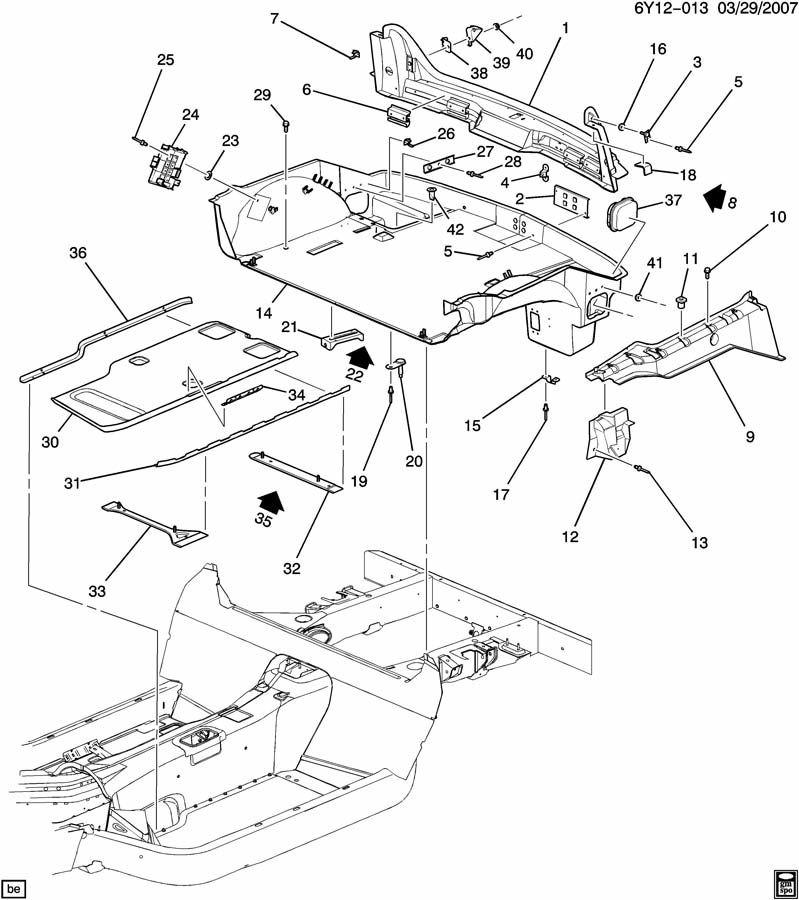 Cadillac XLR Rear Body LH Lock Pillar 10304574 | Factory OEM Parts: http://factoryoemparts.com/04-09-cadillac-xlr-rear-body-lock-pillar-10304574-10304574