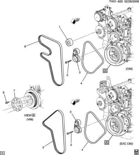 topkick kodiak drive belt tensioner pulley new oem lg4