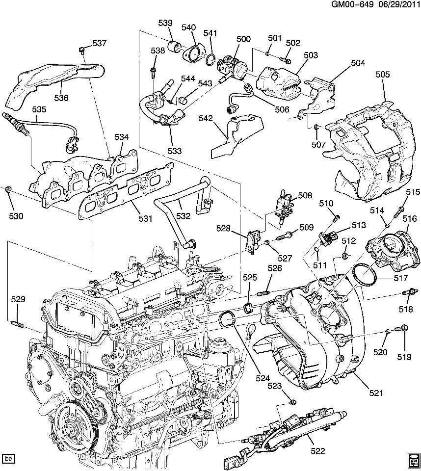 Schematics wiring in addition 2010 2012 Chevy Equinox Gmc Terrain 24l Heat Shield Exhaust Cover New 12643927 12643927 besides 305 Tbi Internal Engine Diagram likewise RepairGuideContent together with 2011 Chevy Cruze Cooling System. on aveo cooling system diagram