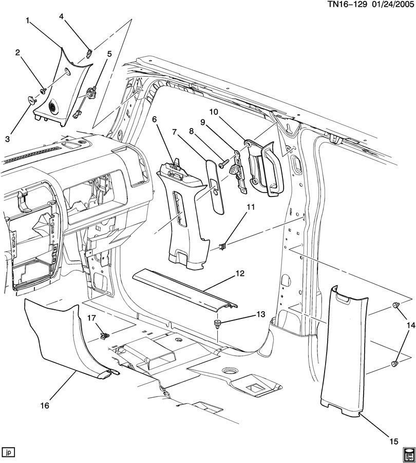 Internal Diagram Hummer H3
