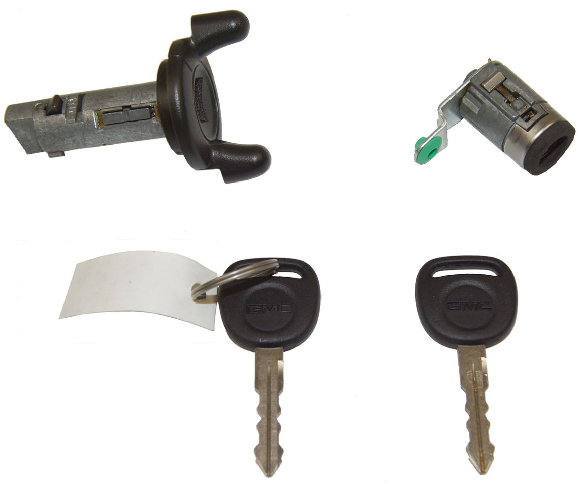 Gmc Ignition Lock Cylinder Door Lock Cylinder 2 Keys W