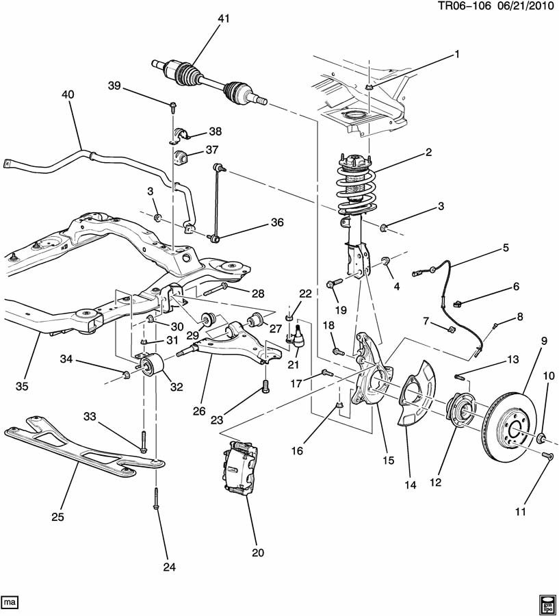 subaru rear suspension parts diagram