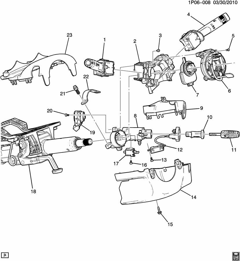 1999 buick regal steering column diagram