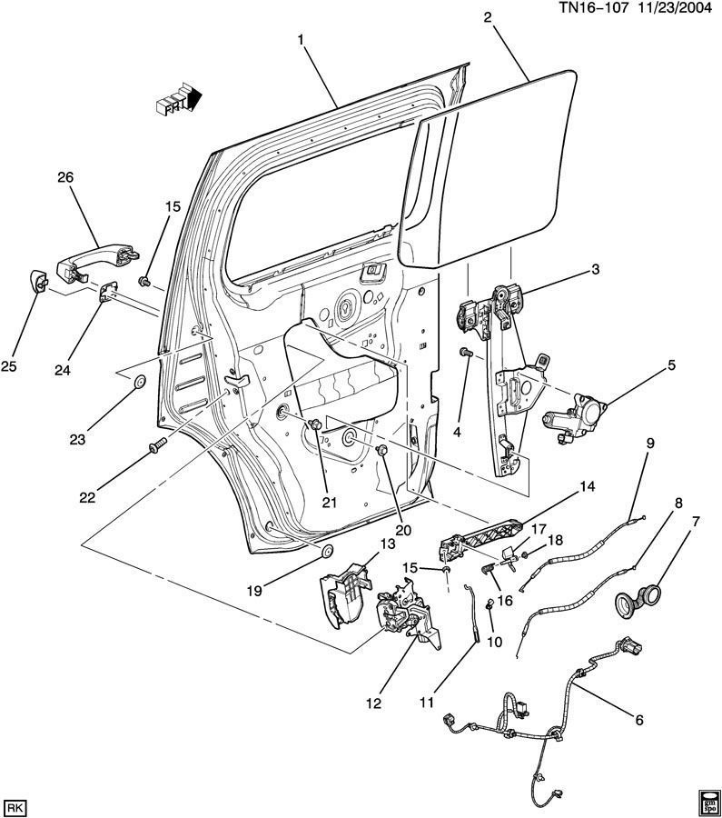 2006 hummer h2 sut driver door latch repair diagram