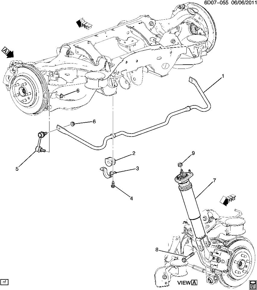 cadillac shock diagram