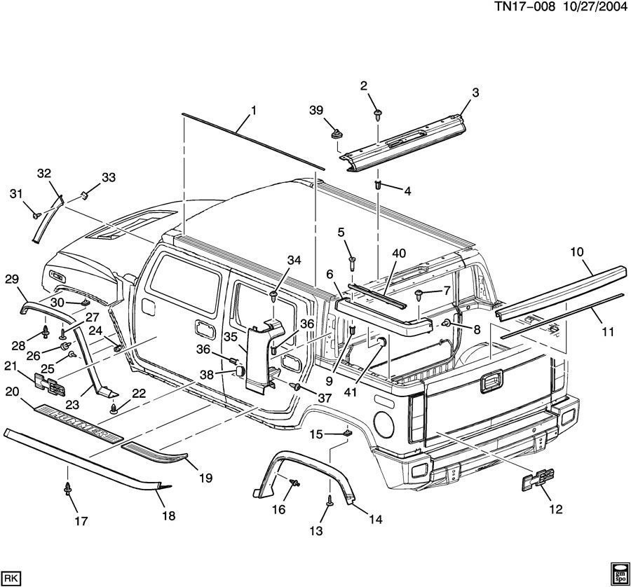 diagram of 2004 hummer parts  diagram  get free image about wiring diagram