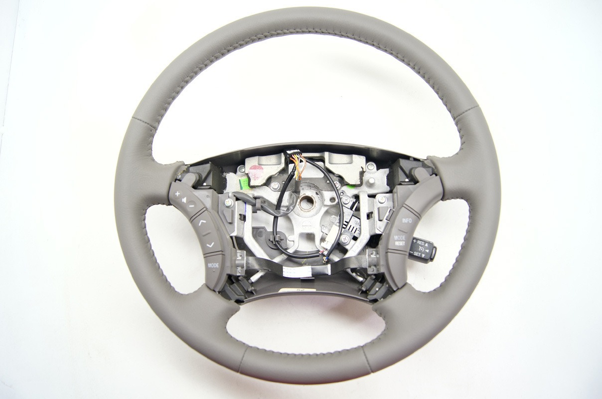 2005-2006 Toyota Camry Grey Leather Steering Wheel w/Audio Cruise Controls   Factory OEM Parts