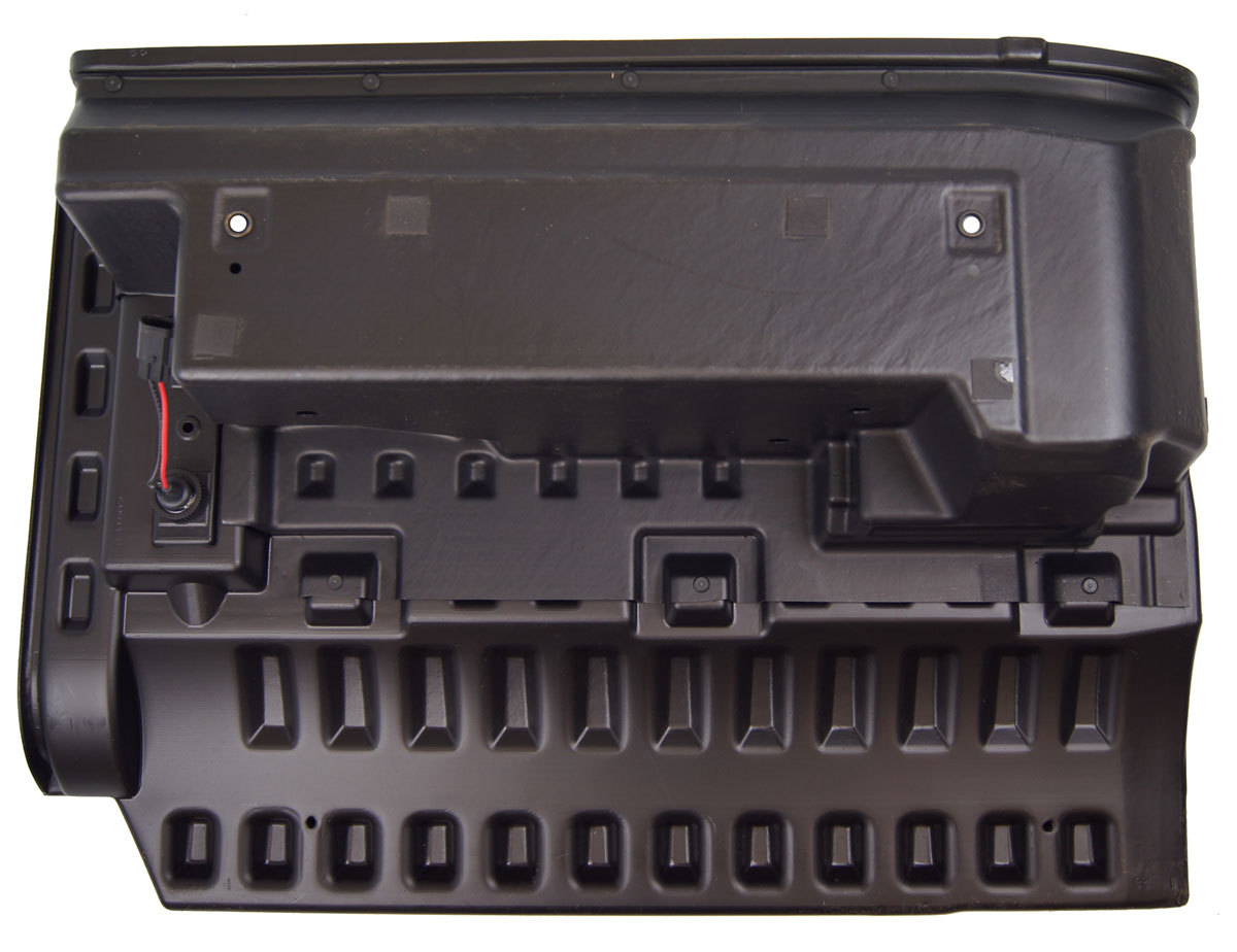 2005 2009 hummer h2 sut rear right side storage box black new oem general motors vanachro Gallery