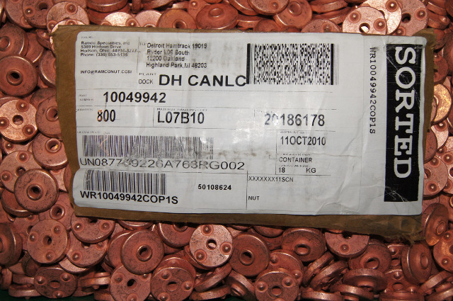 Round Weld Nut copper flash unthreaded Ramco