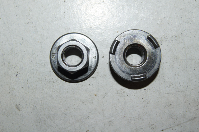 flanged nut with 3 locking teeth  infasco nut lp