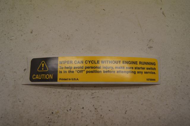 97 chevy kodiak label  wiper cycle  15735444