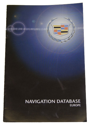 Cadillac Navigation System Map Database Booklet For Europe New In English on 2008 Chevy Silverado Airbag Sensor Passenger Seat