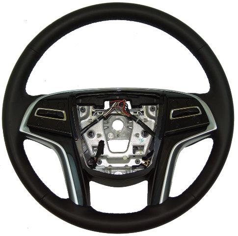 2013 2014 Cadillac Xts Steering Wheel Black Leather Black