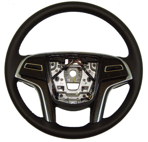 2013-2014 Cadillac XTS Steering Wheel Black Leather Brown