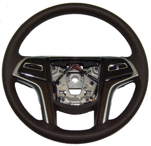 2013 2014 Cadillac XTS Steering Wheel Cocoa Leather Brown