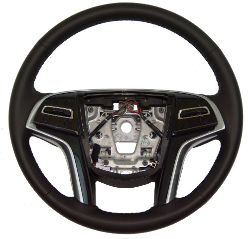Cadillac Xts Steering Wheel Black Leather Black Wood W Adaptive Cruise W