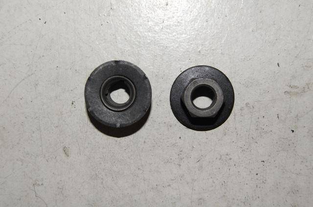 Hex Nut With Washer With Locking Teeth  Black   P  U0026 R