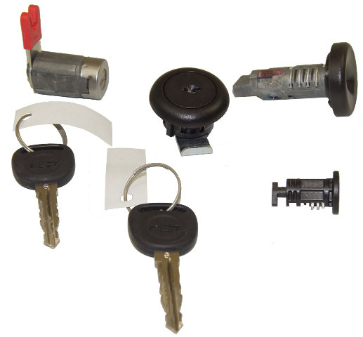 Chevrolet Ignition Lock Cylinder Door Lock Cylinder Glove Box Stowage 2 Keys New
