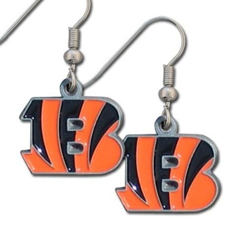 Nfl Licensed Football Cinncinatti Bengals Team Dangle Earrings