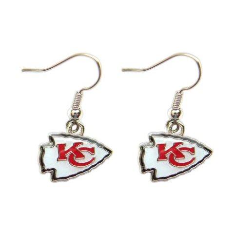 Nfl Licensed Football Kansas City Chiefs Team Dangle Earrings