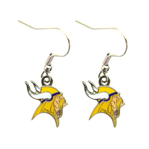 Nfl Licensed Football Minnesota Vikings Team Dangle Earrings