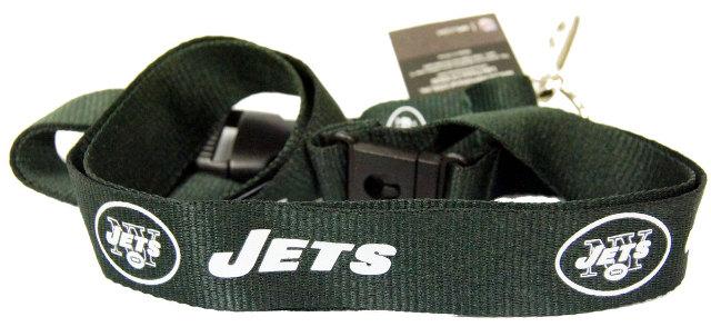 NFL Team Logo New York Jets Key Chain Lanyard Detachable Key Ring and ...