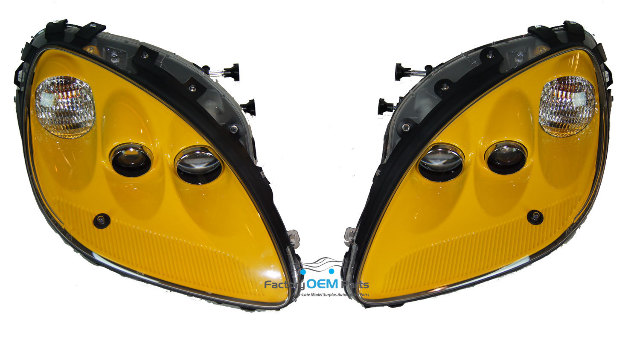 C Milleniumpair Corvette C Millenium Yellow Headlight Head Light Lamp Assemblies Pair