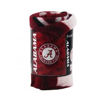 NCAA College Football Alabama Crimson Tide BAMA Mark Fleece Throw Blanket Roll
