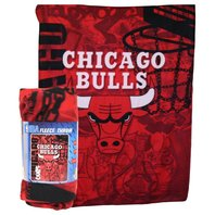 NBA Licensed Basketball Chicago Bulls Fleece Throw Blanket