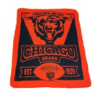 NFL Licensed Football Chicago Bears Marque Design Fleece Throw Blanket