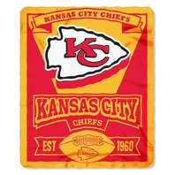 NFL Licensed Football Kansas City Chiefs KC Marque Fleece Throw Blanket