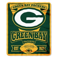 NFL Licensed Football Northwest Green Bay Packers Marque Fleece Throw Blanket