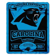 NFL Licensed Football Northwest Carolina Panthers Marque Fleece Throw Blanket
