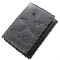 NFL Licensed Football Dallas Cowboys Black Leather Tri Fold Wallet