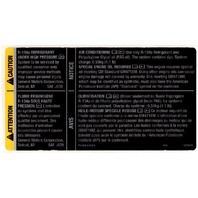 Genuine GM OEM - Engine Oil & Air Conditioning Refrigerant Warning Label R-134a