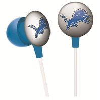 iHip NFL Licensed Detroit Lions Noise Isolating Earphones Headphones Buds