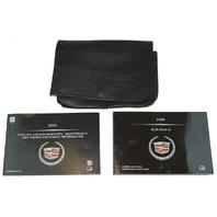 2009 Cadillac XLR XLR-V US & Canada Owners Manual Warranty Booklets Leather Pouch