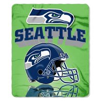 NFL Licensed Football Seattle Seahawks Grid Iron Design Fleece Throw Blanket